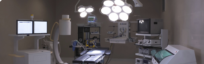 Treatment room image with lights
